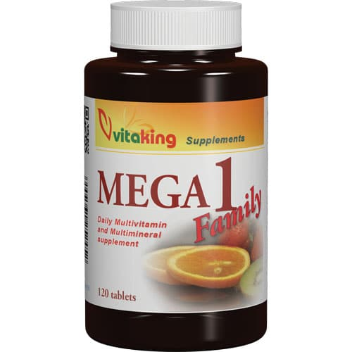 VitaKing Mega Family multivitamin – 120db tabletta