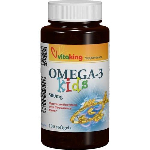 VitaKing Omega-3 Kids halolaj - 100db kapszula