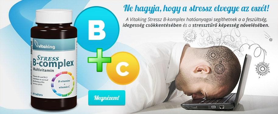 Vitaking B-komplex - Ne hagyja, hogy a stressz elvegye az eszét!
