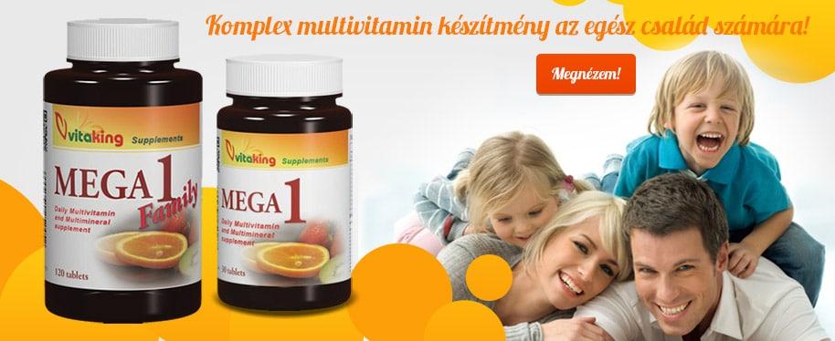 Vitaking Mega-1 - Komplex multivitamin készítmény az egész család számára!
