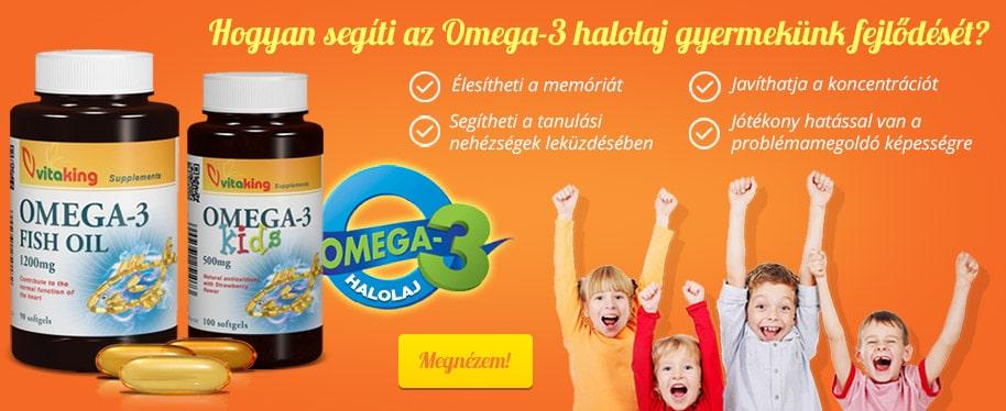 Hogyan segíti az Omega-3 halolaj gyermekünk fejlődését?