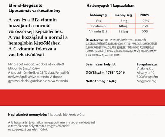 Vitaking VitaFer kapszula - 30db