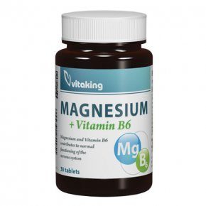 Vitaking Megnesium Citrate 150mg + B6-vitamin tabletta - 30db